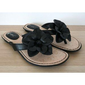 BOC Born Concept Leather Slip On Floral Sandals